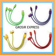 Grosir Express Kabel Data Tali Sepatu 3 in 1