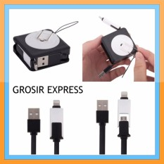 Grosir Express Kabel Data Tarik Squared 2 in 1
