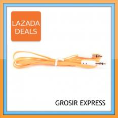 Grosir Express Kabel Flat Audio AUX Jack 3.5mm Audio to Audio Male to Male