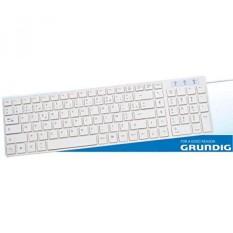 Grundig 72858 extra flach Tastatur (AZERTY, USB) weiß - intl