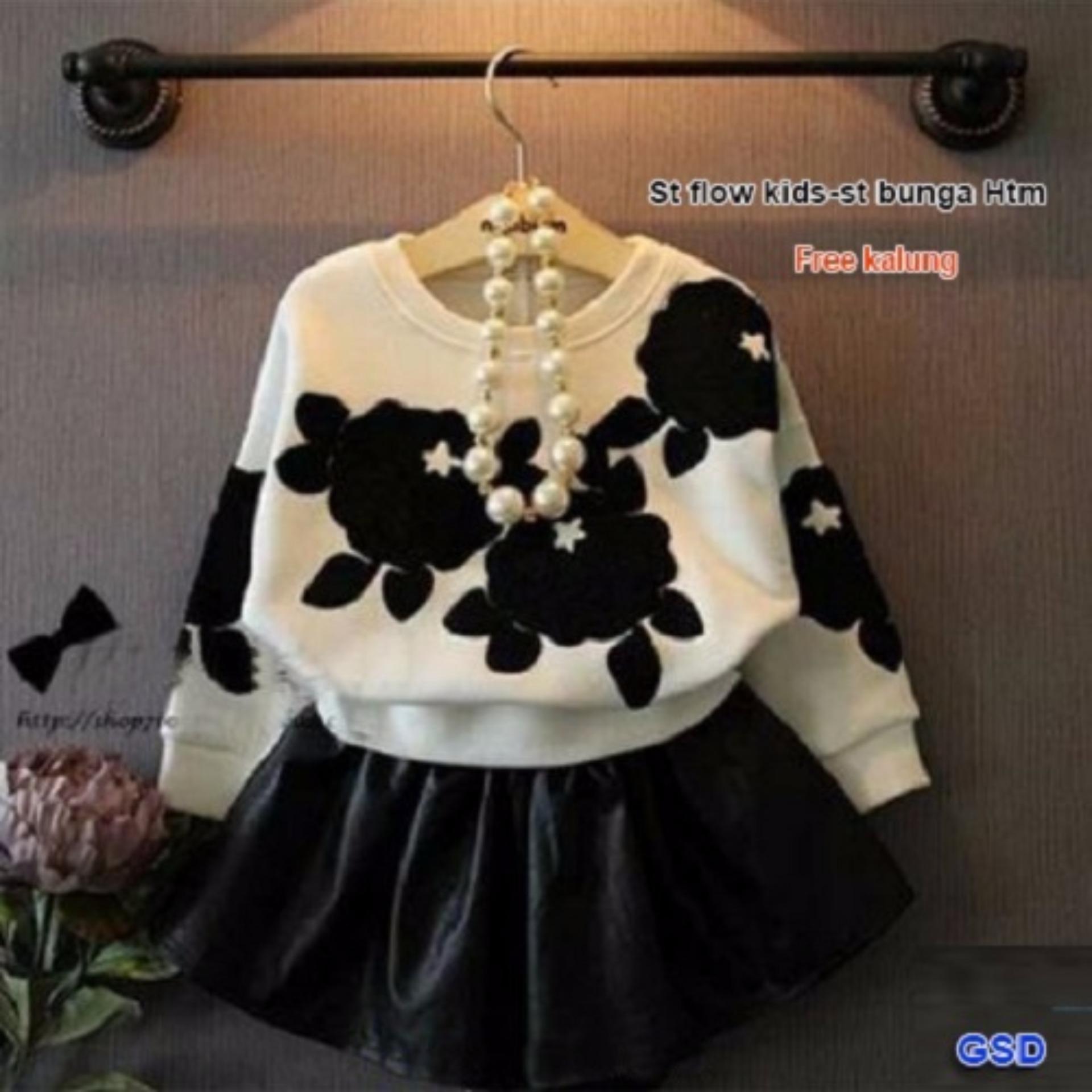 GSD - Setelan Baju dan Rok Anak / St Bunga Hitam