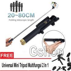 Gshop Tongsis Monopod Kabel/ Selfie Stick 3Generation + Mini Tripod 3 In 1