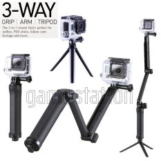 GStation 3-Way Adjustable Monopod for Gopro/SJCam/Brica Bpro/Xiaomi Yi