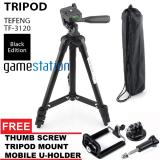 Diskon Gstation Tripod Tefeng Tf 3120 For Camera And Smartphone U Holder Tripod Mount Thumb Scr*w Black