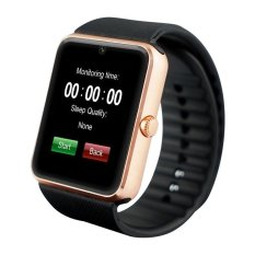 GT08 Bluetooth Smart Wrist Watch GSM Ponsel untuk Android Samsung Apple IOS I Phone (Hitam)-Int'l-Intl