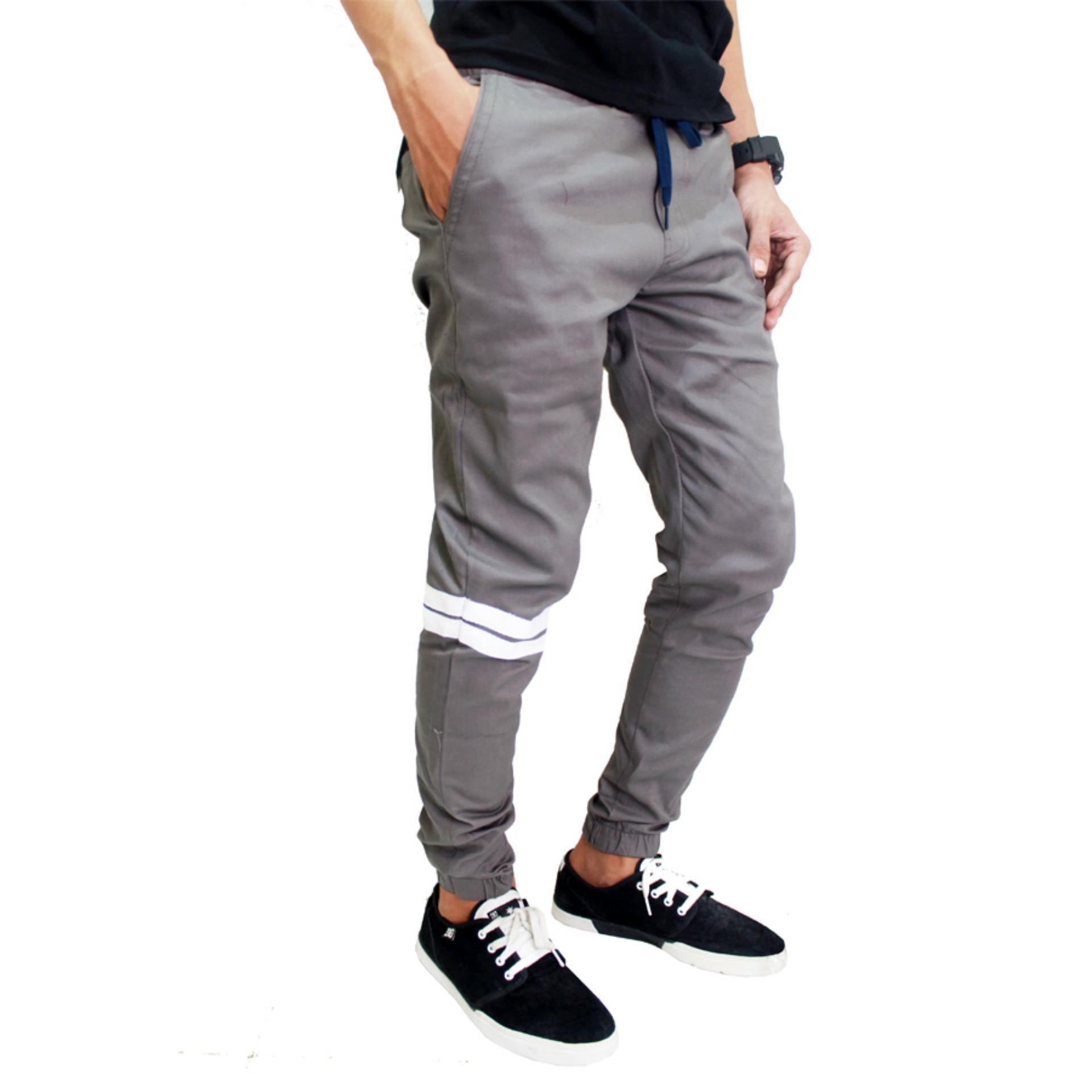 Beli Gudang Fashion Celana Jogger Naruto Abu Kredit Banten