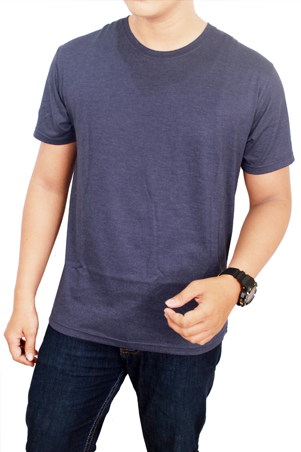Spek Gudang Fashion Kaos Polos Pendek Cotton Combed S24 Misty Navy Gudang Fashion
