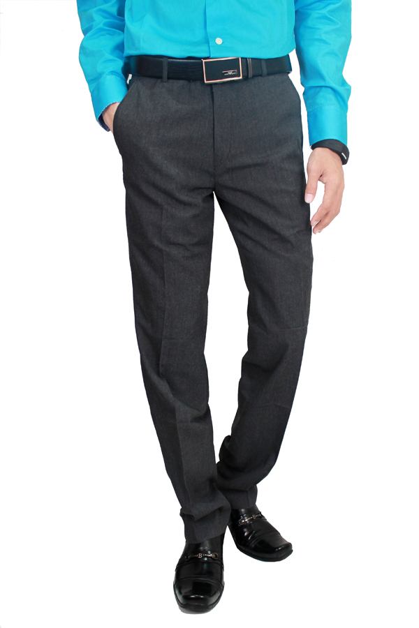 Diskon Gudang Fashion Mens Slim Fit Formal Trousers Abu Tua Branded