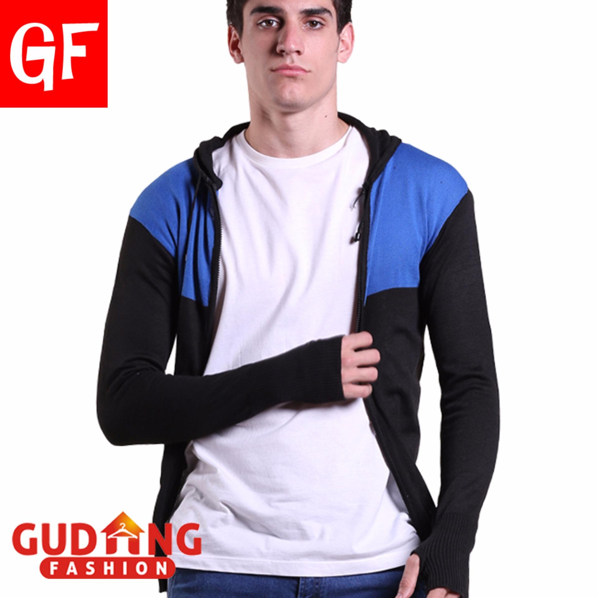 Gudang Fashion Sweater Jaket Pria Kombinasi Warna Original