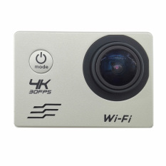 Kualitas H10 Silver 2 Inch 4K 1080P Full Hd 170 Degree Wide Lens Waterproof Sports Cam Wifi Action Camera Intl Oem
