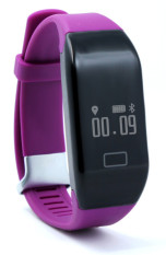Beli Gelang Heart Rate Monitor Bluetooth 4 Passometer Olahraga Kebugaran Tracker Smartband Untuk Ios Android Smart Bracelet Ungu H3 Terbaru