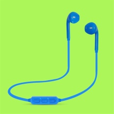 Toko H5 Bluetooth 3 Wireless Earphone Sport Stereo Earbuds With Microphone Blue Di Tiongkok
