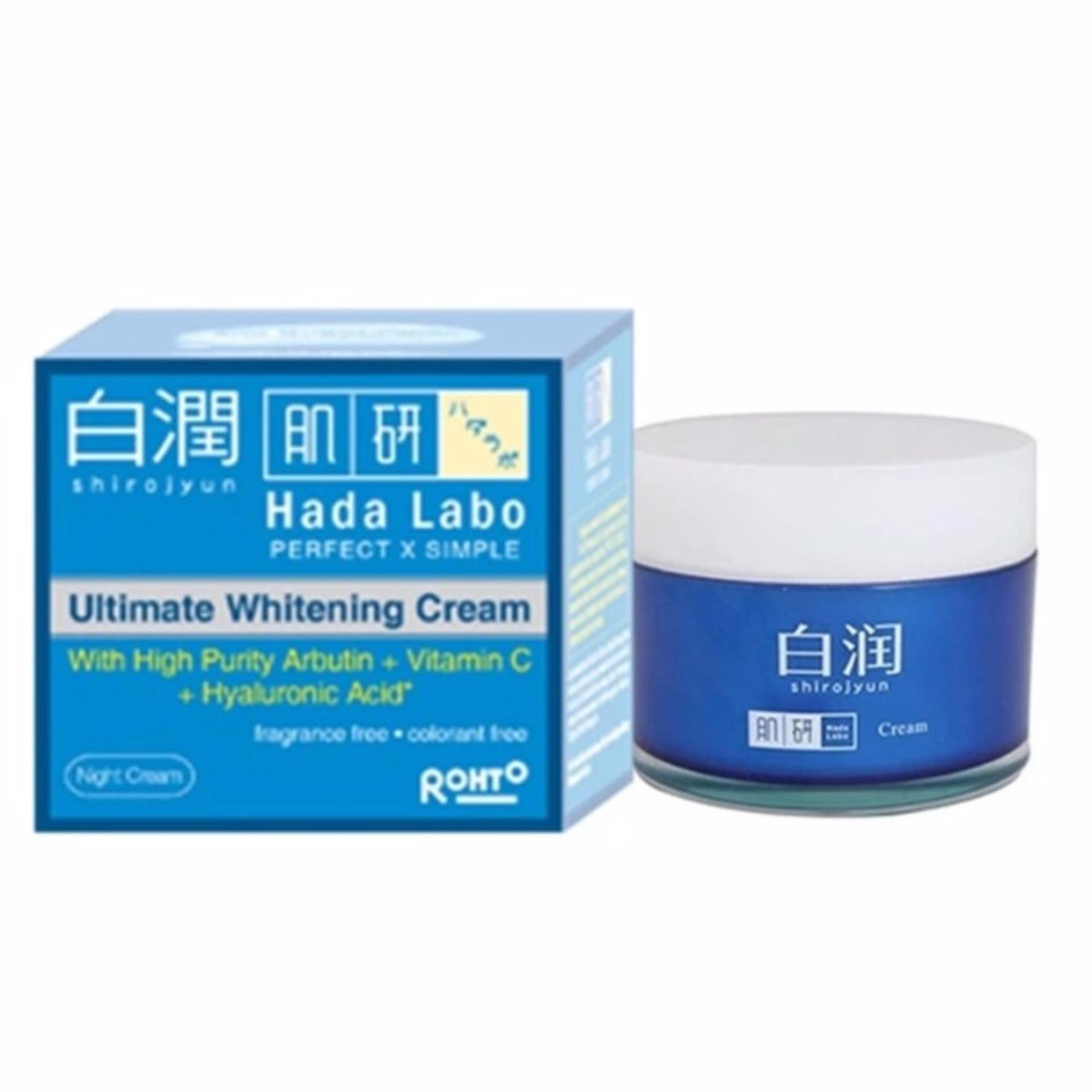 Jual Krim Malam Terbaik Termurah Cordysep Night Cream Herbal Hada Labo Shirojyun Ultimate Whitening 40g