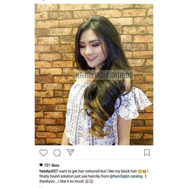 Jual Hairclip Curly Ombre Khaki Online