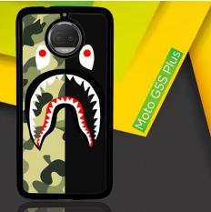 Situs Review Half Camo Bape Shark Face Pattern L1951 Casing Motorola Moto G5S Plus Moto G6 Plus Custom Hard Case