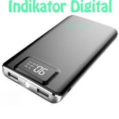 Hame P45 Power Bank 2 Port 10000mAh Indikator Digital & Led Light - Black