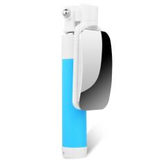 Handheld Dapat Diperpanjang Selfie Stick Monopod Tripod untuk Telepon Wired Selfie Stick dengan Cermin untuk Huawei P8/G9 Lite IPhone 5 S/6 S Plus (Biru) -Intl