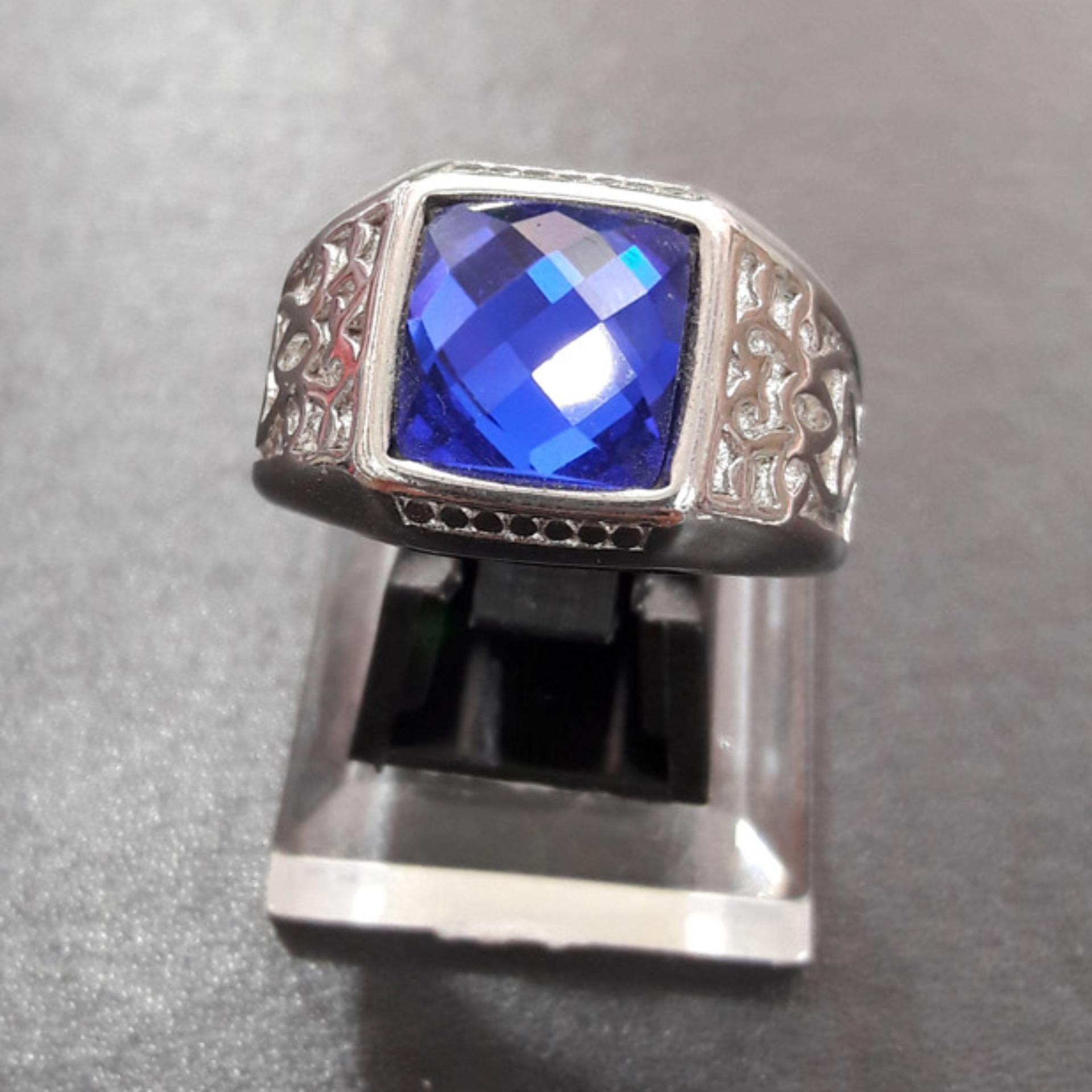 Beli Handmade Nandhut Cincin Batu Akik Mata Biru Cicil