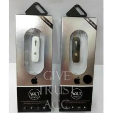 Review Handsfree Bluetooth For Iphone 4 1 Black White Universal Di Indonesia