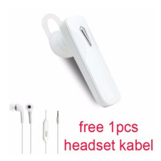 Handsfree Bluetooth Hedset Kabel For Sony Xperia X Zs L1 Putih Murah