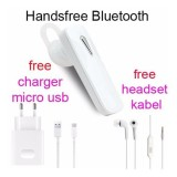 Ulasan Tentang Handsfree Bluetooth Hedset Kabel Charger Usb For Samsung Galaxy J2 J7 Prime Putih