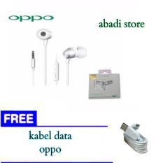 Handsfree Headset Oppo Original 100 Authentic Mh124 Extra Bass Free Kabel Data Oppo Oppo Diskon 30