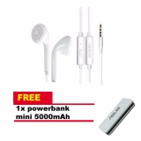 Jual Handsfree Oppo Mh133 Stereo In Ear Original Headset Earphone For All Phone Model Stereo Bass Portable Handsfree White Putih Power Bank 5000Mah Oppo