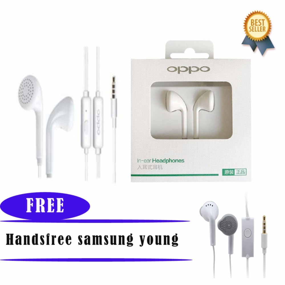 Bisa Digunakan Untuk Smartphone Merk Lain Handsfree OPPO MH133 Stereo In Ear Original Headset / Earphone For All Phone Model Stereo Bass