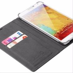 Hanton Folio Edge Flip Cover Casing for Samsung Galaxy Note 3 - Black Red