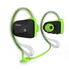 HAOFEI Jabees 4 Warna Bluetooth Wireless Olahraga Stereo WaterproofSwimming Headset (Black/Hijau)-Intl-Intl