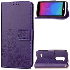 Happon Case for LG Leon C40 PU Leather Case Flip Stand Cover Wallet Card Slots with Magnetic Closure - intl