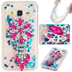 Happon Case untuk Samsung GALAXY CORE Prime G360 Glitter Dinamis Liquid Quicksand Soft TPU Back Case