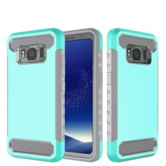 Happon Case for Samsung Galaxy S8 Active Carbon Fiber 2 in 1 Hybrid Combo Shockproof Back Case - intl