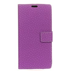 Happon Case for Sharp Aquos R SH-03J Woven Pattern PU Leather Wallet Case with Card Slots - intl