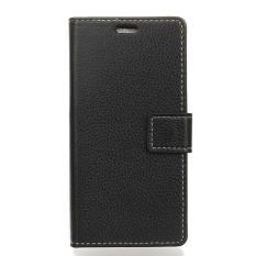 Happon Case for Sharp Aquos U / SHV40 Litchi Grain Pattern PU Leather Case with Card Slots Photo Frame - intl