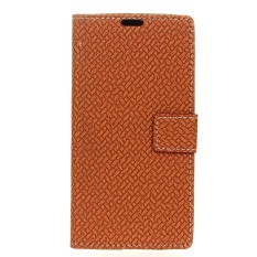 Happon Case for Sharp Aquos U / SHV40 Woven Pattern PU Leather Wallet Case with Card Slots - intl