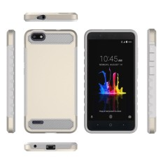 Happon Case for ZTE Blade force N9517 Carbon Fiber 2 in 1 Hybrid Combo Shockproof Back Case - intl
