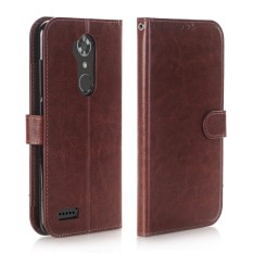 Happon Case untuk ZTE Maksimum XL N9560 Dompet Kulit PU Case Magnetik Lipat Penyangga Sarung dengan Slot Kartu-Internasional