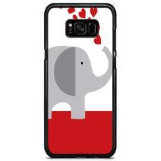 Harga Happy Elephant Love Y0926 Samsung Galaxy S8 Custom Hard Case Online Jawa Tengah