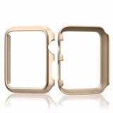 Spesifikasi Aluminium Berlapis Keras Bumper Pelindung Kulit To Apple Watch Seri 1 38Mm Semua Model Case Penutup Emas Yang Bagus