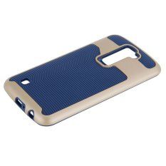 Hard Bumper Hybrid Soft Rubber Case Case untuk LG K10 Navy-Intl