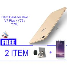 Spesifikasi Hard Case For Vivo V7 Plus Y79 Y79L Black Blue Red Gold Free Ring Temperet Glass Universal