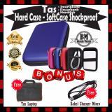 Tips Beli Hard Case Shockproof Tas Harddisk External Powerbank Antishock Tahan Banting Pouch Bag Biru Gratis Tas Laptop Kabel Charger Micro