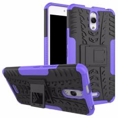 Hard Plastik + TPU Hibrida Armor Bracket Impact Holster Cover Kasus untuk Alcatel One Touch Flash 6.0 OT-8050D (ungu) -Intl