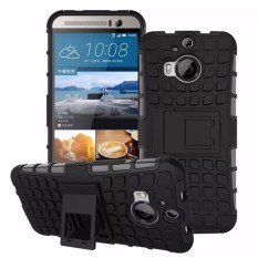 Hard Plastic + TPU Hybrid Combo Armor Back Protective Cover Case For HTC One M9 Plus (Black) - intl