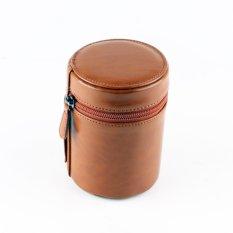 Hard PU Leather Camera Lens Pouch Bag Case untuk Canon Ukuran Dalam: 10.5 Cm X 8 Cm Ukuran Eksternal: 12.5 Cm X 9 Cm (Coklat)-Intl