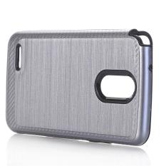 Hard Soft Rubber Impact Armor Case Punggung Hibrida Cover untuk LG Stylo 3 Plus GY-Intl