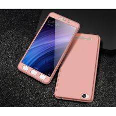 Hardcase 360 Xiaomi Redmi 5A Fullset Casing Free Tempered Glass Cover - ROSE GOLD