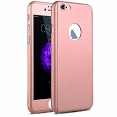 Hardcase Case 360 Iphone 5 / 5s / 5SE Casing Full Body Cover - Rose Gold + Free Tempered Glass