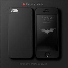 Jual Hardcase Case 360 Iphone 5 5S 5Se Tanpa Lubang Casing Full Body Cover Hitam Free Tempered Glass Antik